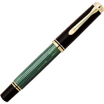 ペリカン 万年筆 F 細字 緑縞 スーベレーン M400 正規輸入品