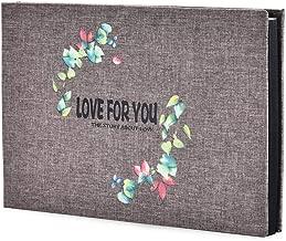 ZEEYUAN Self Adhesive Photo Album, Linen Scrapbook Album 8 X 11 DIY Memory Book with Water-Proof PVC Protection Cover for Travel Wedding Anniversary Christmas Valentines Birthday