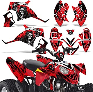 Polaris Outlaw90 Outlaw110 Decal Graphic Kit ATV Quad Graphics Wrap Deco Outlaw 90 110 REAPER RED