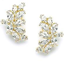 57x33mm Brown Onyx Oval Earrings  22kt Gold Plated Earrings  Gemstone Earrings  Bridal Wedding  Gift Idea DE224
