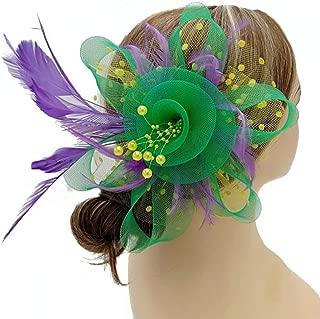 Fascinators Hat for Women Wedding Feather Flower heandbands Party Derby Headbands Clip Tea Party Headwear