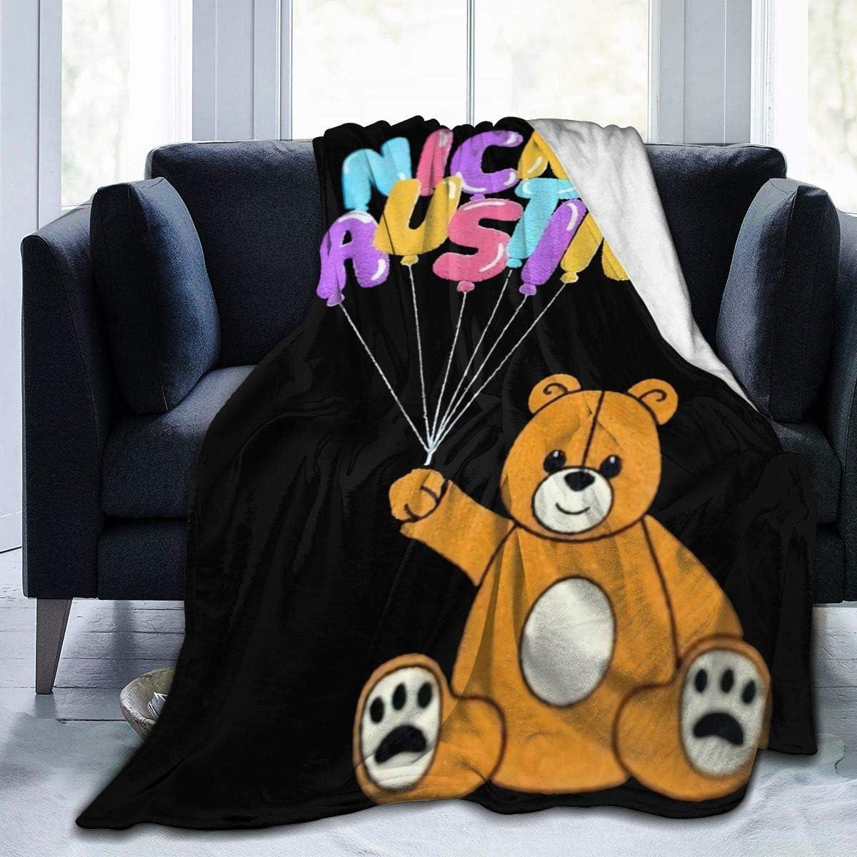DouglassJWashington Nick Austin Bear Blanket F 受注生産品 Microfiber Fleece 豊富な品