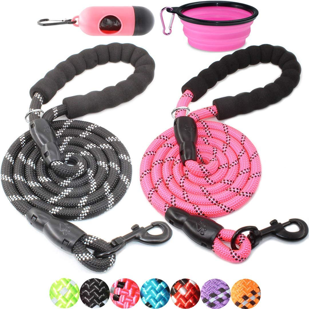 BAAPET 2 Packs 5 6 FT Strong New arrival H with Dog Industry No. 1 Padded Comfortable Leash