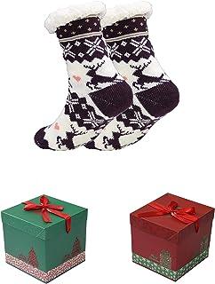 RAIKOU, Mujer Calcetines Invierno Calentar Pantuflas de Estar Por Casa Super Suaves Cómodos Calcetines Antideslizante