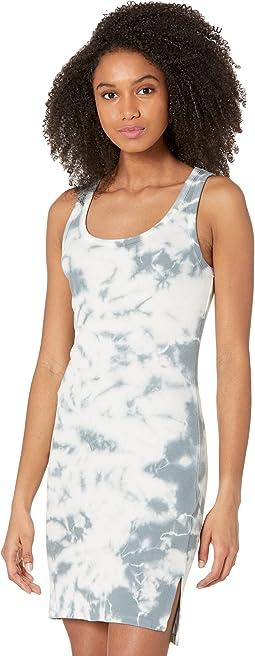 Tie-Dye Rib High-Low Tank Dress