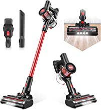 Cordless Vacuum Cleaner, Max Power 80AW Electric Broom H12 Level Advanced Filtering System Stick Vacuum for Home Hard Floor Car Pet Hair Lightweight T185 - TOCMOC