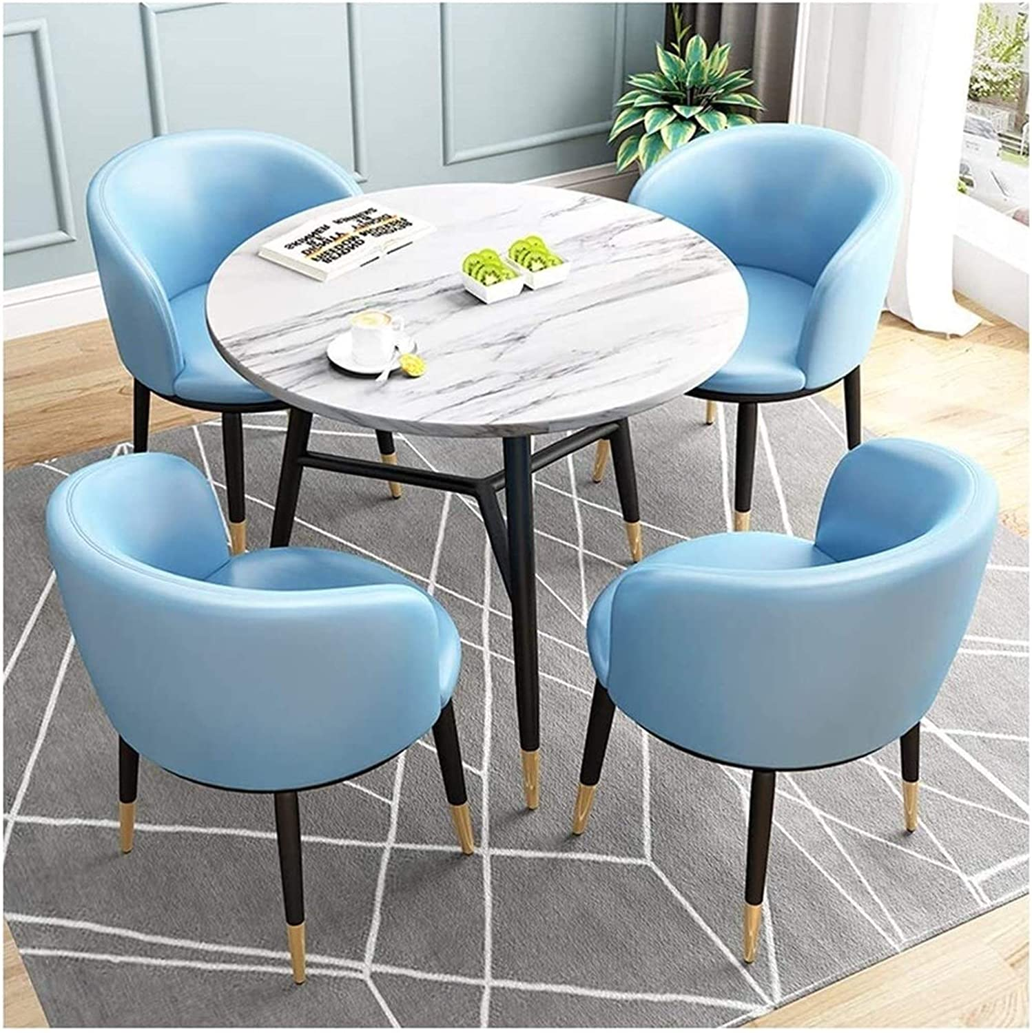 Round ! Super beauty product restock quality top! Dining Table and Chair 2021 spring summer new Set Combinat