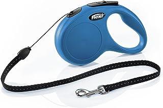 Flexi New Classic Retractable Dog Leash (Cord), 16 ft, Small, Blue