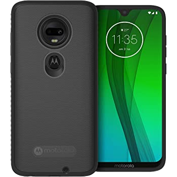 Motorola Moto G7 Protective Case- Black - Precision fit Shock Absorbing Cases for Enhanced Phone Grip, Style, Drop Protection for Your Device