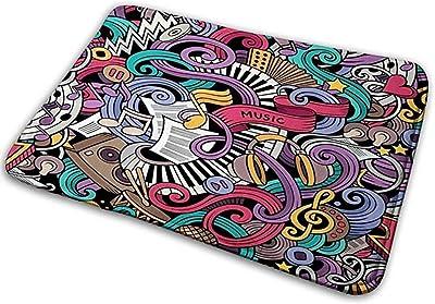 Felpudo Interior, patrón étnico. Ornamento de garabatos Tribales. Ilustración de Efecto Dibujado a Mano tapete de Puerta 40X60 CM: Amazon.es: Hogar