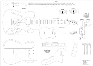 Full Scale Plans for the Fender Telecaster 1969 Thinline Electric Guitar