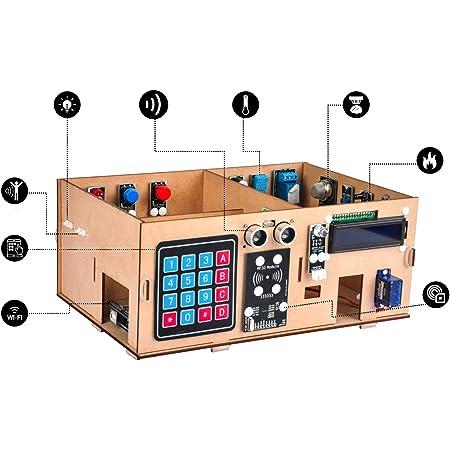 OSOYOO Arduino MEGA2560 IoT学習 スマートホームキット|モノのインターネット、建物の力学構造、電気工学、コーディング方法を学習するためのSTEMセット|子供向けの教育コーディング