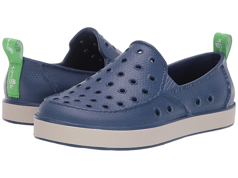 Sanuk Kids Lil Walker (Little Kid/Big Kid) (Navy/Peyote) Kids Shoes