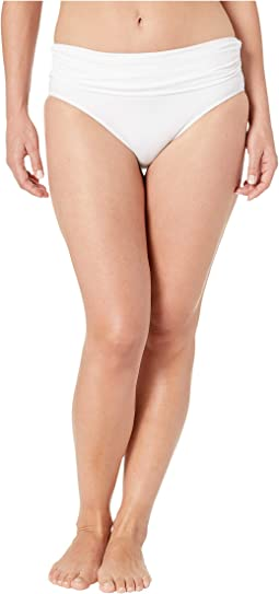 Beach Club Solids Wide Shirred Banded Hipster Bottom