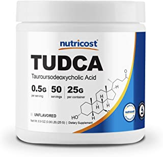 Nutricost Tudca Powder 25 Grams (Tauroursodeoxycholic Acid) - Gluten Free, Non-GMO