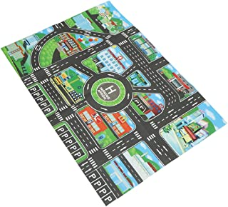 MagiDeal City Traffic Road Carpet Playmat Rug for Cars & Train Game Toys Baby Children Educational Play Mat for Bedroom Play Room Game #B
