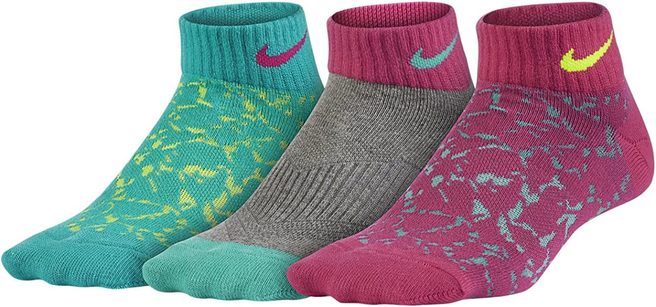 Nike New 3 Pack Boys' Band Cotton Crew Socks With Moisture Management