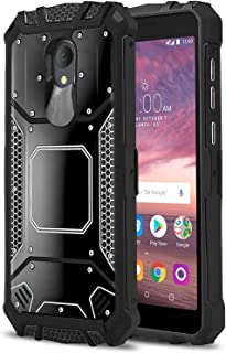 Phone Case for [ALCATEL TCL LX (A502DL)], [Alloy Series][Black] Aluminium [Metal Plate] Military Grade Cover for Alcatel TCL LX (Tracfone, Simple Mobile, Straight Talk, Total Wireless)