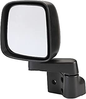 Dorman 955-694 Driver Side Manual Door Mirror - Folding for Select Jeep Models, Black
