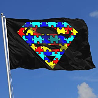 Sisa Autism Superhero Awareness 3x5 Foot Flags Outdoor Flag 100% Single-Layer Translucent Polyester 3x5 Ft