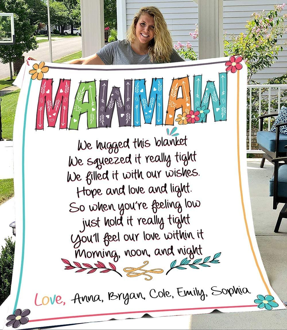 Mawmaw We Hugged Max 68% OFF This Blanket Grandma Personalized Kid's N It is very popular with