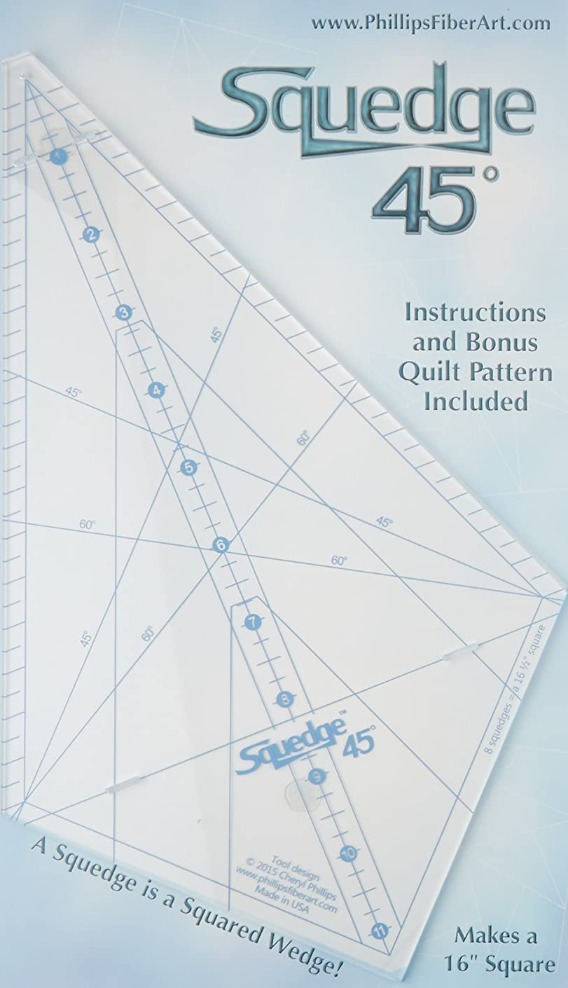 Phillips Fiber Art Ruler° Squedge 45°