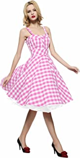 50s 60s Vintage Cocktail Retro Swing Rockabilly Full Circle Dress