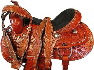 Arabian Horse Western Saddle Trail Pleasure Barrel Tooled Leather TACK 17 16 15