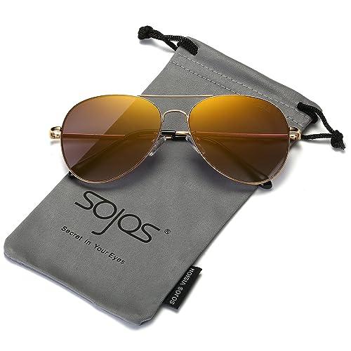 Sonnenbrille Pilotenbrille Piloten-Style Retro Verspiegelt Getönt UV400 CAT 3