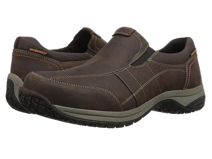 Dunham Litchfield Slip-On Waterproof (Brown) Men's Slip on  Shoes