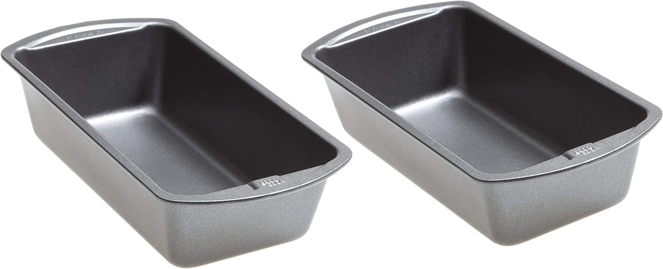 Good Cook 7428419185195 8 Inch x 4 Inch Loaf Pan (8 x 4 Inch (2 Pack), Stainless