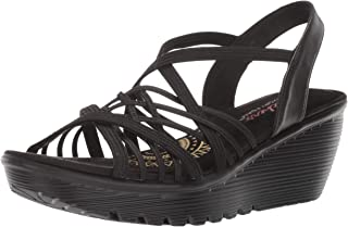 Skechers PARALLEL - CROSSED WIRES - Multi Gore Slingback Sandal womens Wedge Sandal