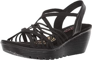 Skechers Women's Parallel-Crossed Wires-Multi Gore Slingback Sandal Wedge