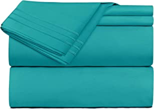 Clara Clark 4 Piece Sheet Set Deep Pocket Brushed Microfiber 1800 Bedding Hypoallergenic, Wrinkle, Fade & Stain Resistant