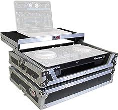ProX X-DDJSB3 LT Flight Case for Pioneer DDJ-SB3 & DDJ-400 Digital Controller With Sliding Laptop Shelf - Silver on Black ...