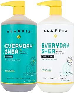 Alaffia - EveryDay Shea Vanilla Mint Shampoo & Conditioner Value Set: Shampoo & Conditioner, 32 oz each