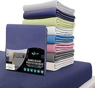 Dreamzie - prześcieradło 140x200 CM - 100% bawełna Koszulka certyfikat Óko-Tex - Ciemnoniebieski - na materac o wymiarach ...