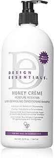 Design Essentials Honey Creme Moisture Retention Super Detangling Conditioning Shampoo, 32 Fl Oz