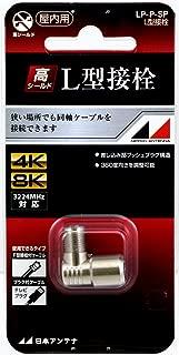 日本アンテナ F型L字接栓 F型(入力側)→F座(出力側) LP-P-SP