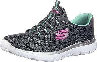 Skechers Summits Scarpe da ginnastica da donna, grigio (Carbone/verde.), 39.5 EU