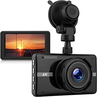 TOGUARD 4K Dash Cam Ultra HD Car Dash Camera 3'' LCD 170° Wide Angle Dashboard Camera Recorder with Night Vision, 24Hs Parking Monitor, G-Sensor, Time Lapse
