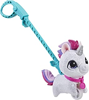 FurReal Walkalots - Lil Wags Silver Unicorn Plush Pet Doll - Interactive Toys for kids, boys, girls - Ages 4+