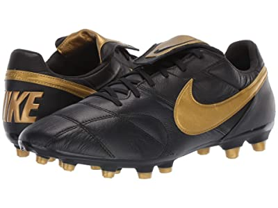 Nike Premier II FG (Black/Metallic Vivid Gold/Black) Men