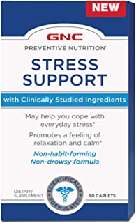 GNC Preventive Nutrition Stress Support, 90 Caplets, Promotes a Feeling of Relaxation and Calm