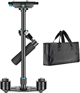 Neewer Aluminium Alloy 24 inches/60 centimeters Handheld Stabilizer with 1/4 3/8 inch Screw Quick Shoe Plate for Canon Nikon Sony Other DSLR Camera Video DV up to 6.6 pounds/3 kilograms(Black)