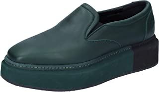 MANUEL BARCELO Slip on Donna Pelle Verde