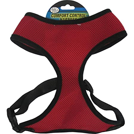 Four Paws Comfort Control Harness Size: Medium, Color: Red