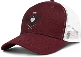 QILI Two Headed Masonic Eagle Cool Mesh Dad Hat Lightweight Sun Hat Adjustable Unisex