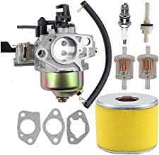 Coolwind 16100-ZF6-V01 Carburetor with 17210-ZE3-505 Air Filter Gas Fuel Tank Joint Filter for Honda GX340 GX390 13HP 11HP 16100-ZF6-V00 Lawnmower Water Pumps