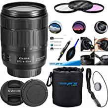 Canon EF-S 18-135mm f/3.5-5.6 Image Stabilization USM Lens (Black) Expo Essential Kit (Bulk Packaging) (New) photo